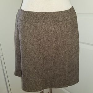 DKNY City brown wrap mini skirt petite size 8